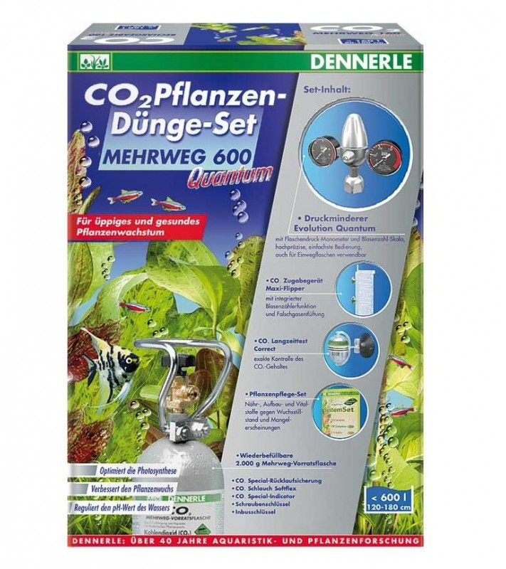 Dennerle CO2 Reusable fertilizer kit 600 Quantum