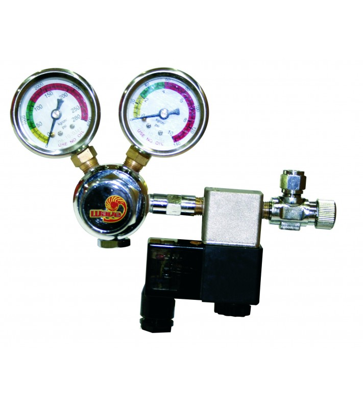 TECHNO CO2 REDUCER W/2 MANOMETERS+ELECTROVAL